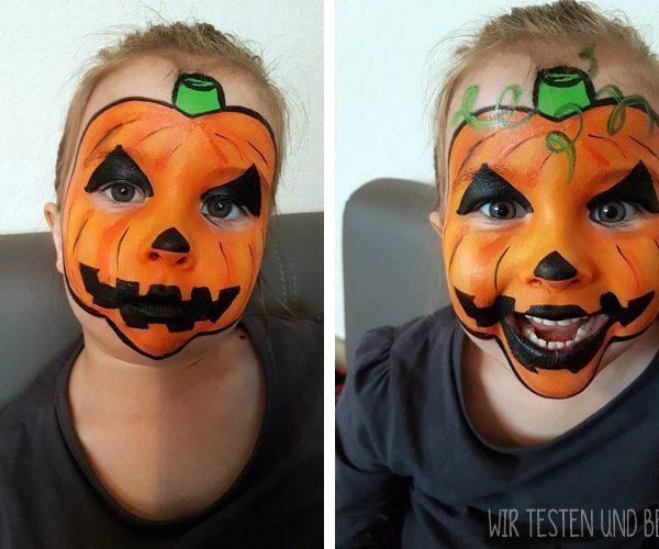 Halloween Kürbisgesicht schminken: Schritt für Schritt Anleitung 2
