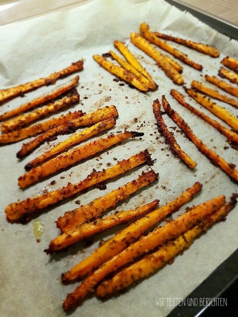 Geröstete Parmesan Knoblauch Karottensticks 2