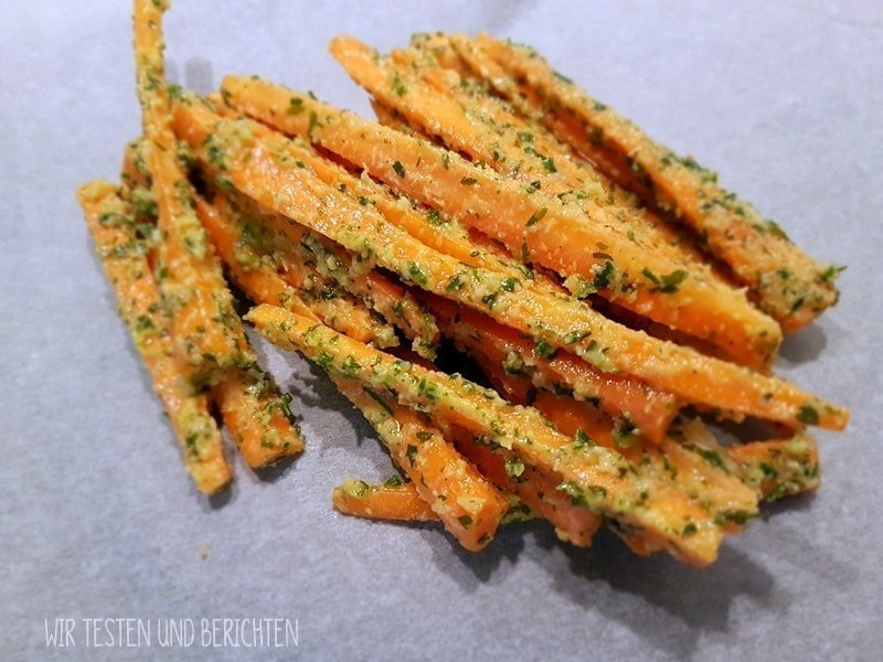 Geröstete Parmesan Knoblauch Karottensticks 4