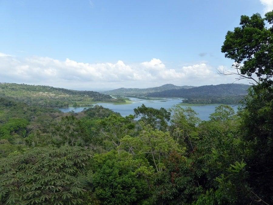 Blick auf den Panama Kanal