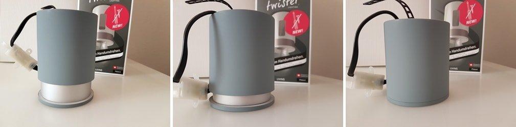 Twister Lighting, die erste Leuchte mit schraubenloser Montage 3