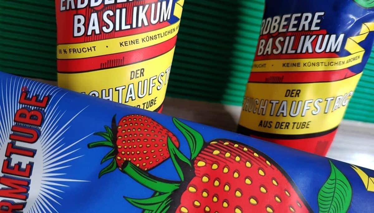 Marmetube Erdbeer Basilikum Fruchtaufstrich