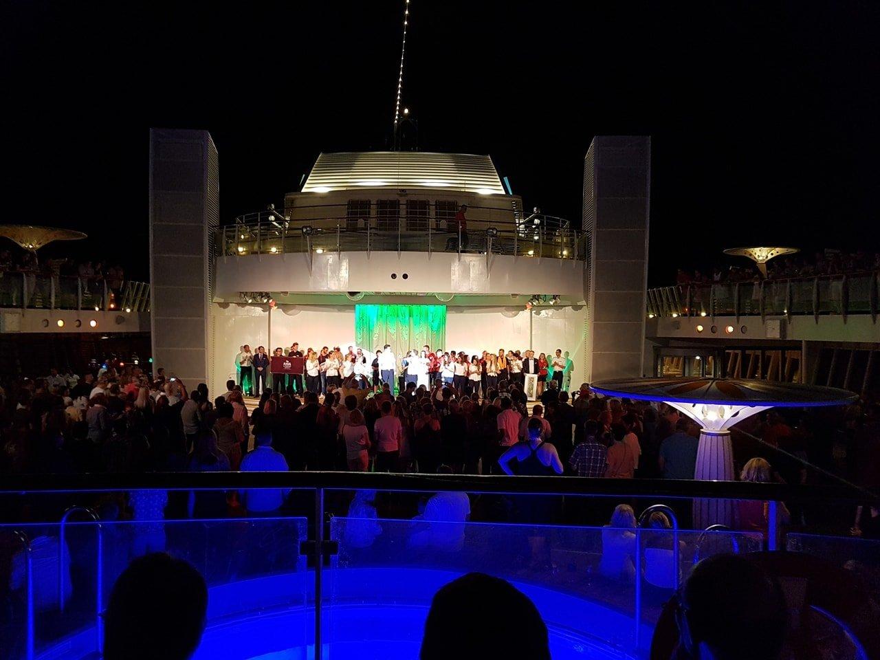 AIDA Transatlantik Reise Willkommensparty