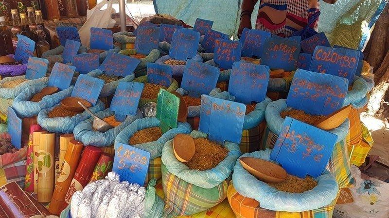 Gewürze Guadeloupe Markt Sainte Anne