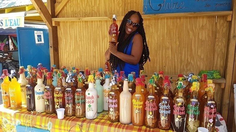 Likör Guadeloupe Markt Sainte Anne