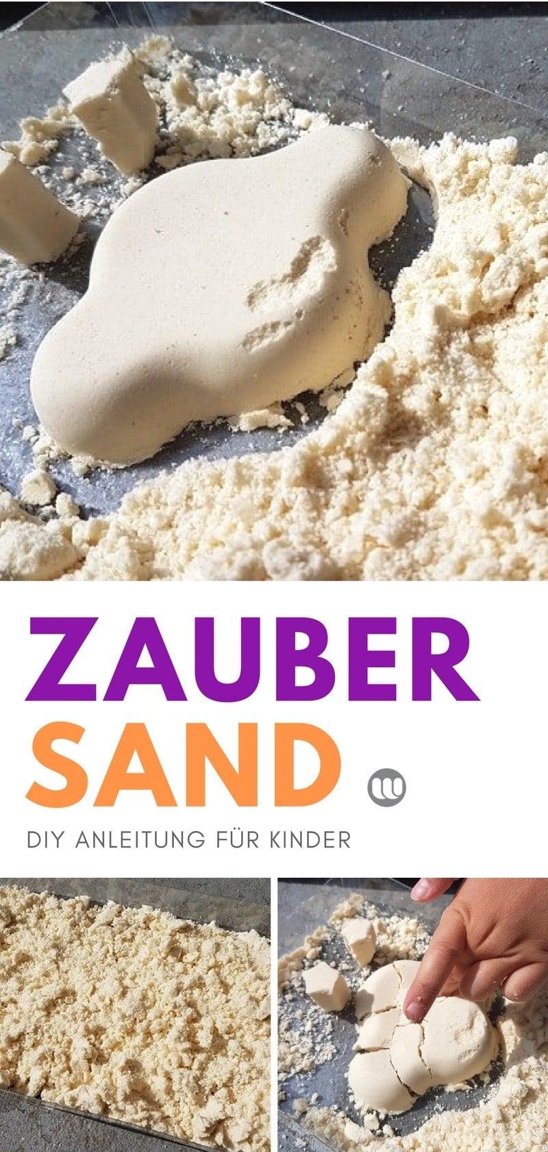 Kinetic Sand Alternative zum selber machen: Mond Sand (Moon Sand)