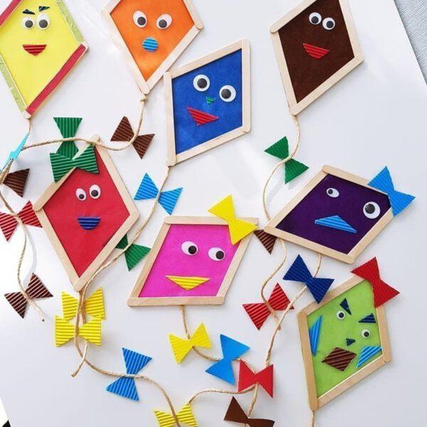 Popsicle Stick Kite DIY