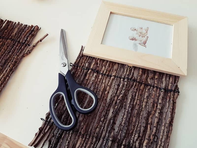 bilderrahmen mit naturmaterialien basteln wir testen und berichten. Black Bedroom Furniture Sets. Home Design Ideas