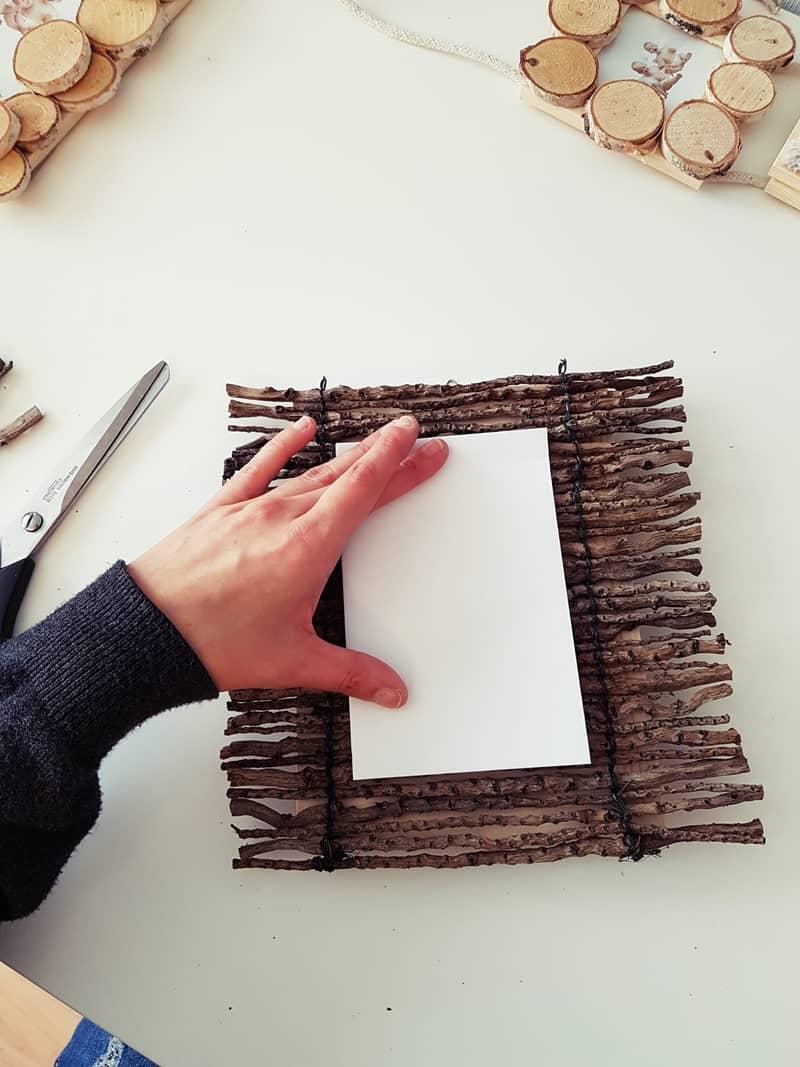 DIY Bilderrahmen aus Naturmaterialien basteln