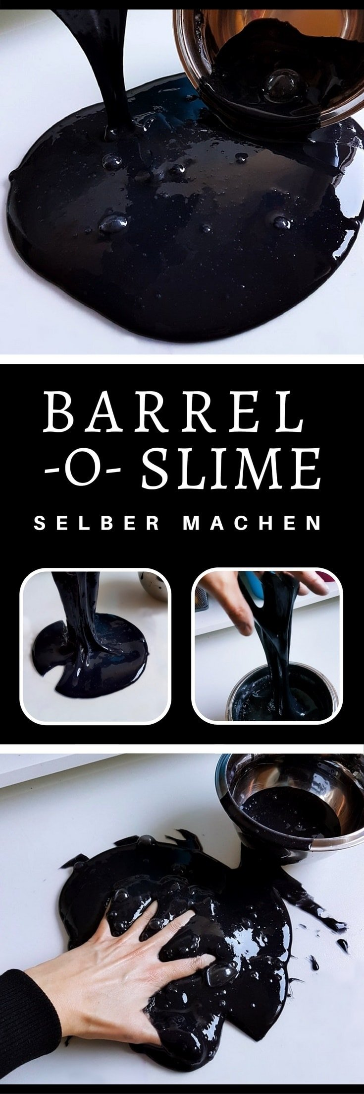 barrel o slime selber machen schleim im l fass. Black Bedroom Furniture Sets. Home Design Ideas