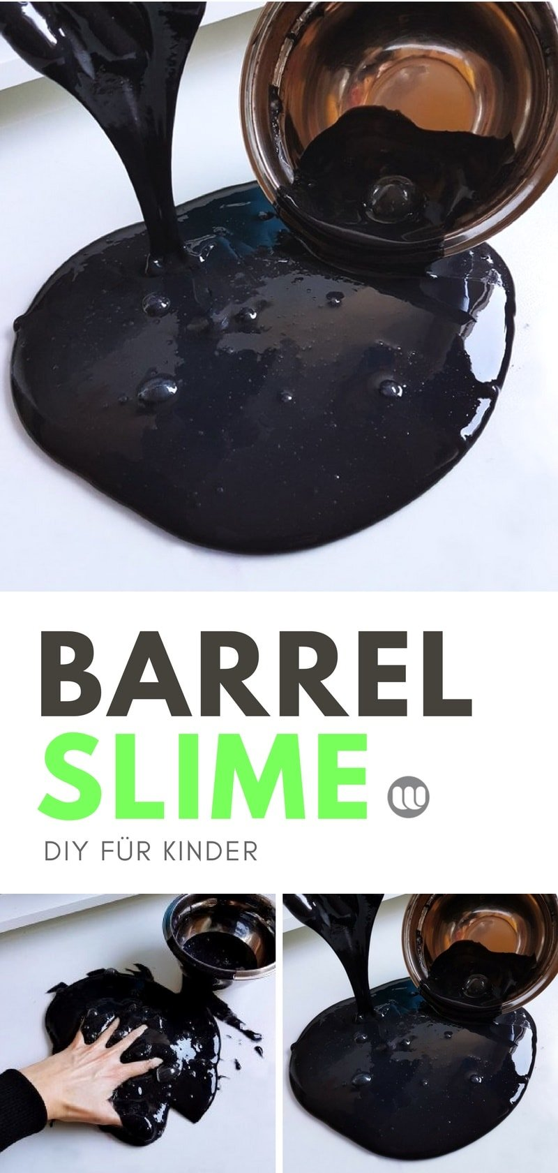 barrel o slime selber machen diy schleim im l fass. Black Bedroom Furniture Sets. Home Design Ideas