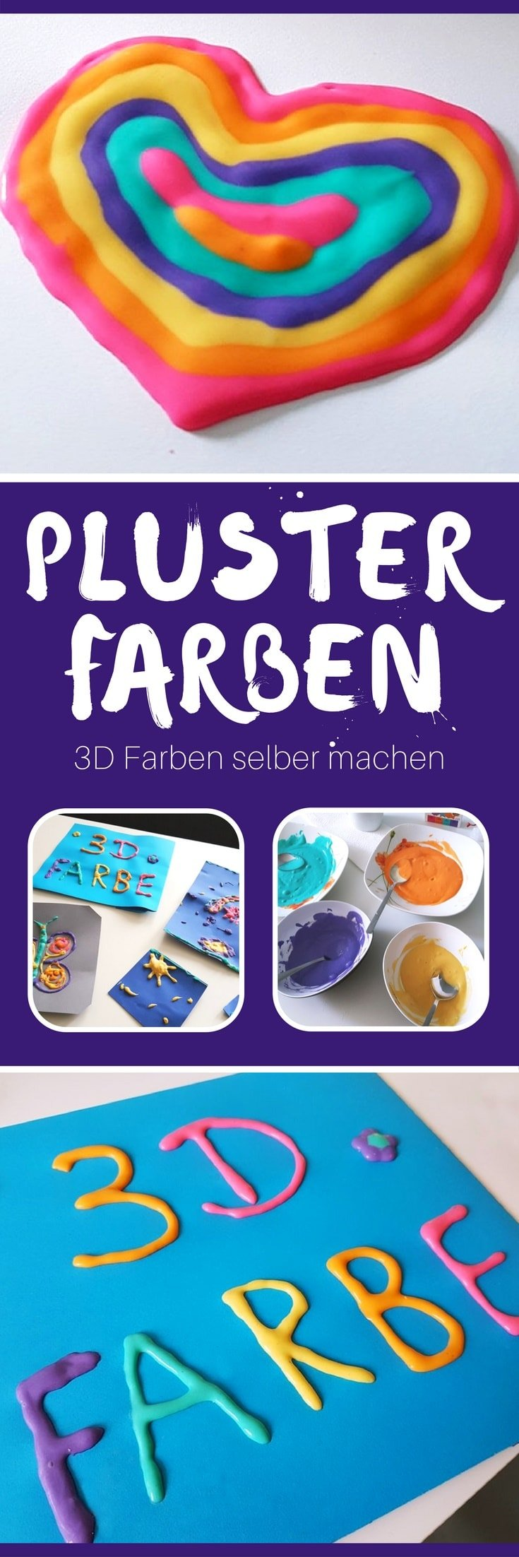 3d bilder aus diy plusterfarbe puffy paint farbe selber machen. Black Bedroom Furniture Sets. Home Design Ideas