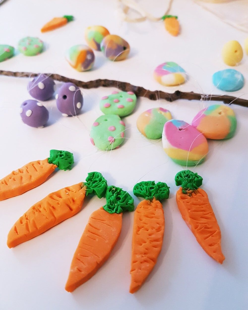 Basteln zu Ostern mit Kaltporzellan
