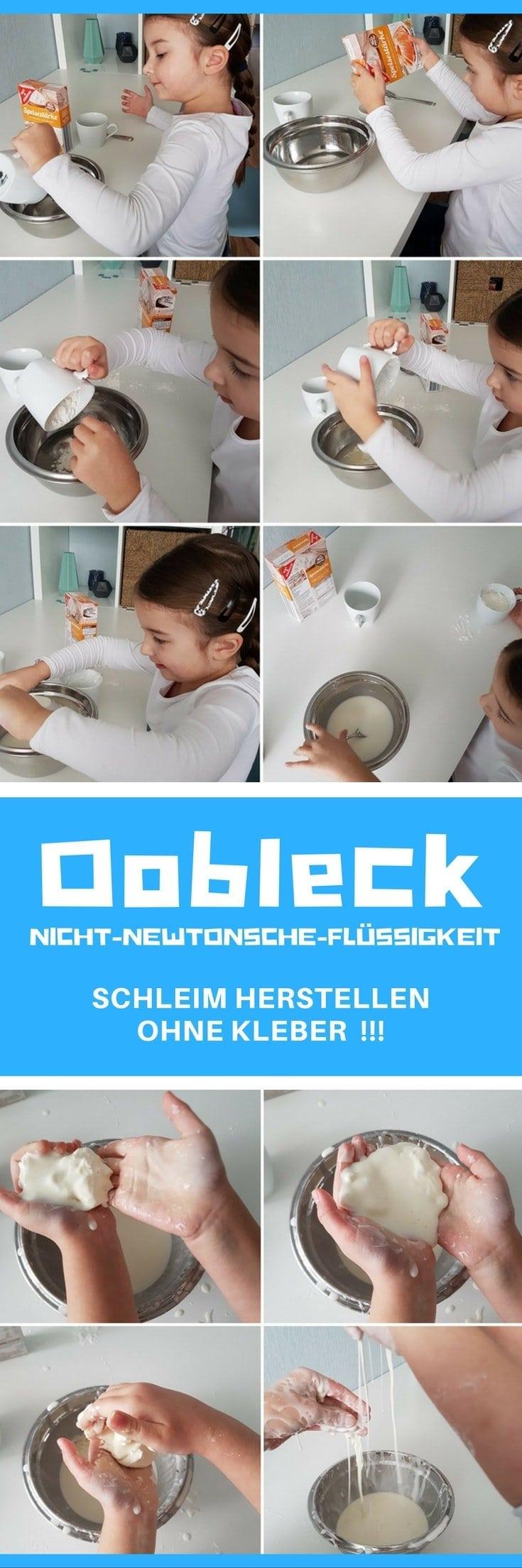 Oobleck selber machen - Schleim ohne Kleber aus Speisestärke herstellen #Experiment #Kinder #Schule #Kindergarten