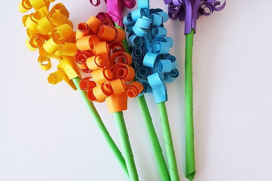 Papierblumen (Hyazinthen) Blumen aus Papier basteln