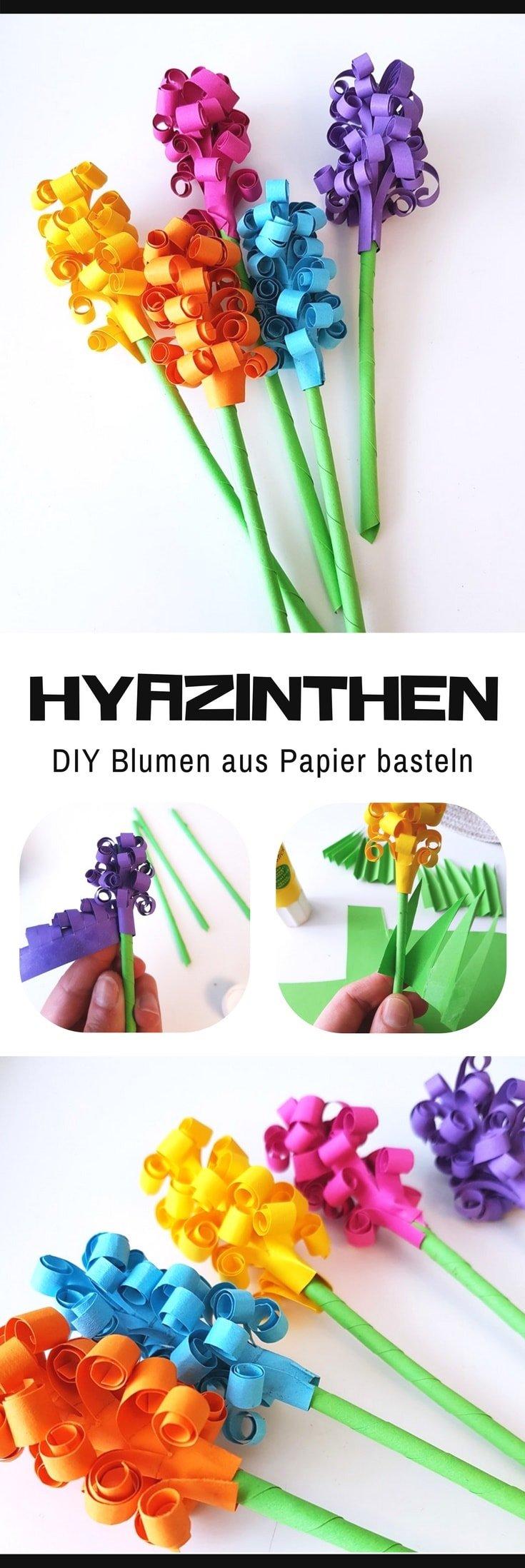hyazinthen aus papier basteln diy blumen f r den fr hling. Black Bedroom Furniture Sets. Home Design Ideas