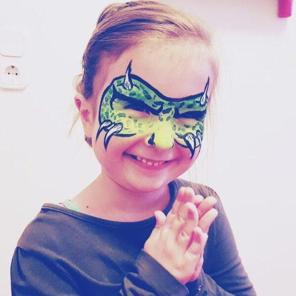Grüne Monstermaske schminken