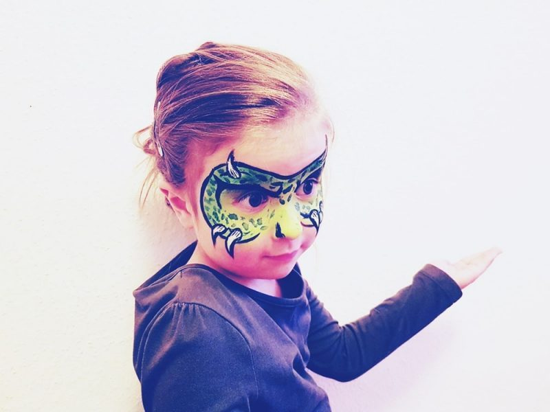 Monstermaske schminken