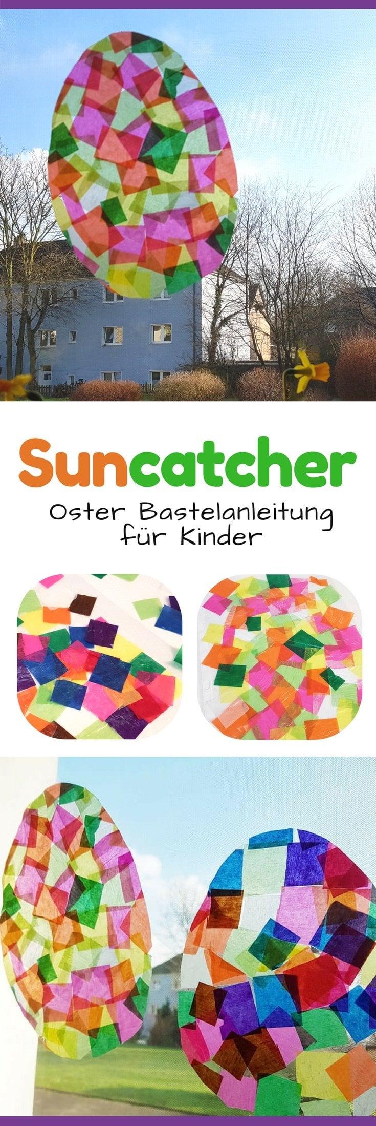 Suncatcher DIY - Frühling Fensterbild basteln