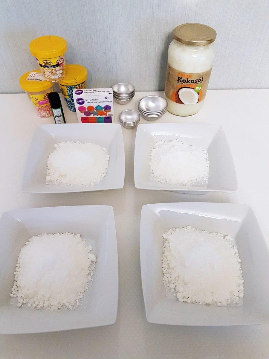 Badekugeln für Kinder selber machen: Benötigte Zutaten