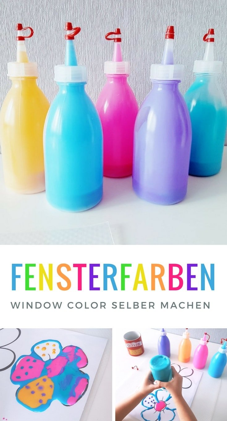 diy fensterfarbe window color selber machen anleitung. Black Bedroom Furniture Sets. Home Design Ideas