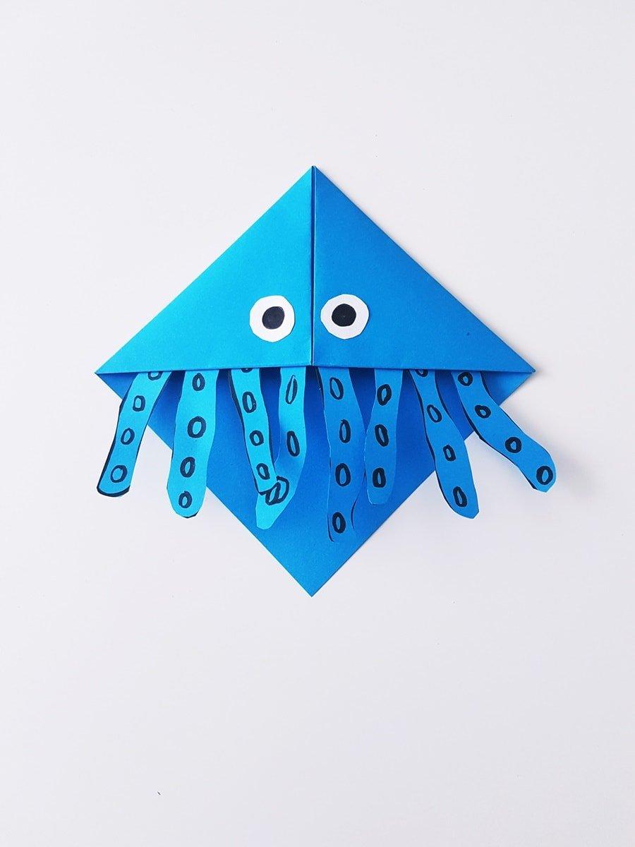 Anleitung: Lesezeichen Tintenfisch selber basteln
