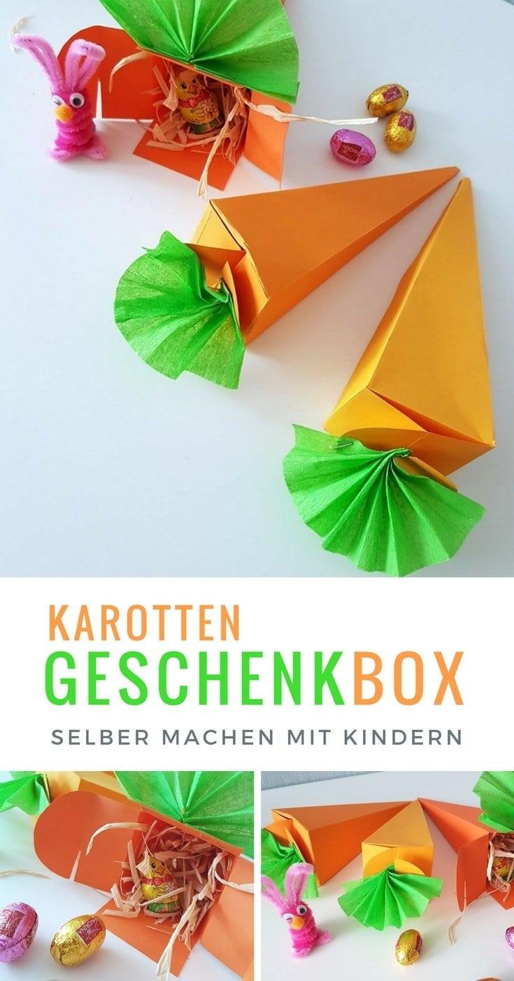 Oster Geschenkverpackung Karotte basteln zu Ostern #Ostern #Karotte #Bastelanleitung #Geschenkidee #Geschenk #basteln