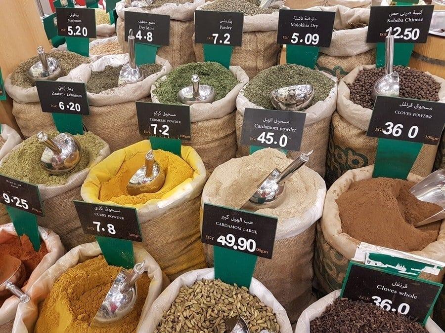 Gewürze kaufen in Hurghada Ägypten Senzo Mall