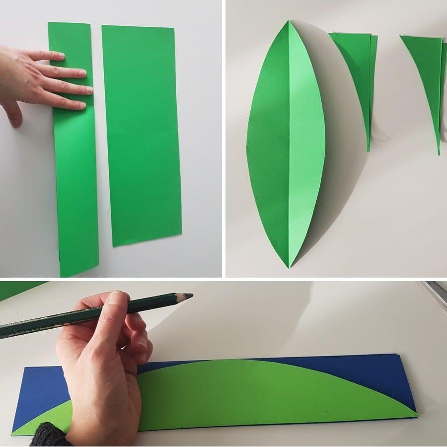 papierblumen basteln einfache anleitung f r eine blumen wanddeko. Black Bedroom Furniture Sets. Home Design Ideas