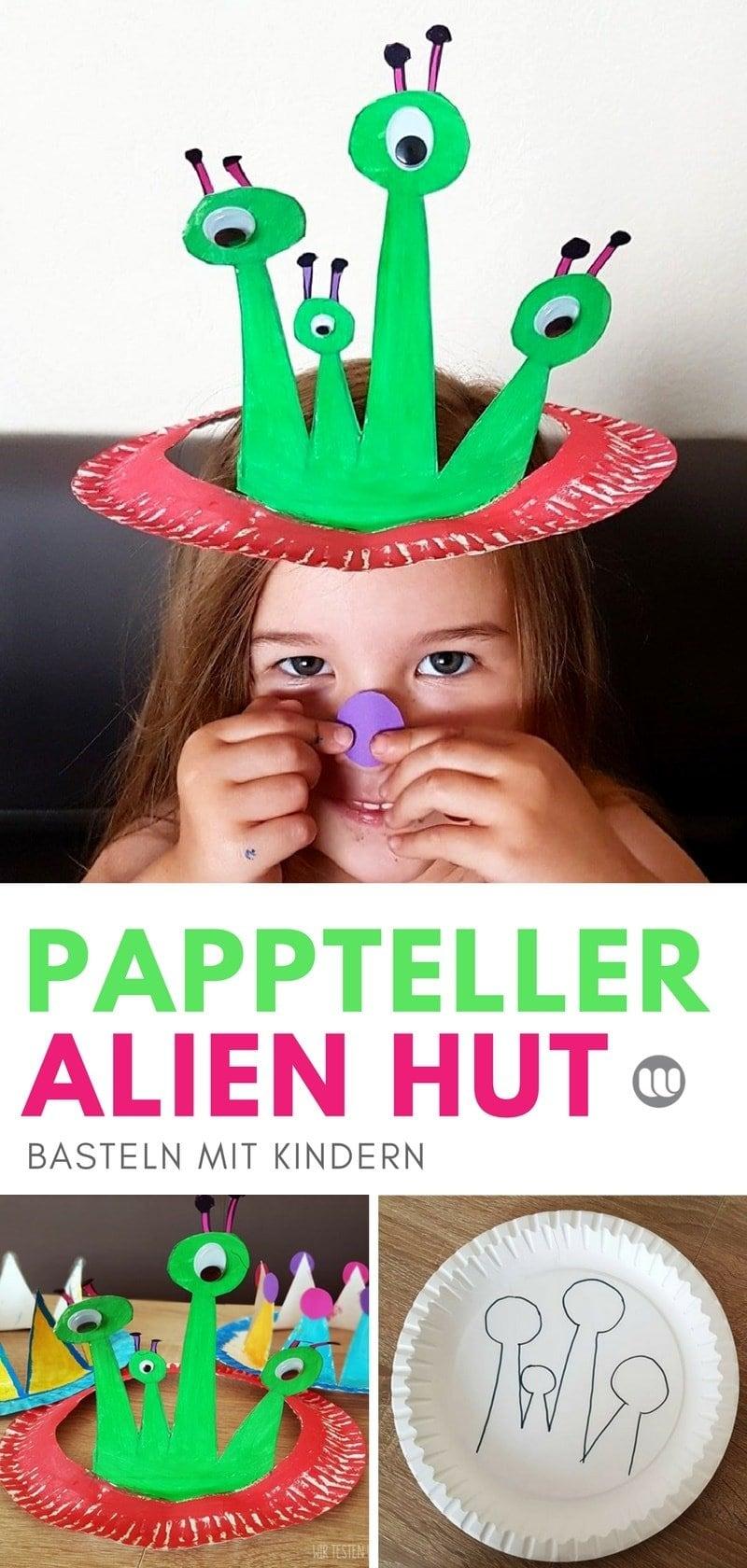 DIY Krone, Hüte aus Papptellern: Basteln mit Kinder
