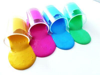 Anleitung: Regenbogen Slime selber machen Kinder, Kleinkinder, Kindergarten, Sommer