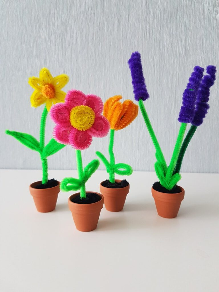 Bastelanleitung Tulpen Lavendel Osterglocken Blumen basteln