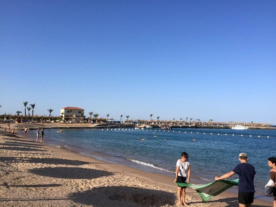 Hurghada Familienhotel Strandabschnitt