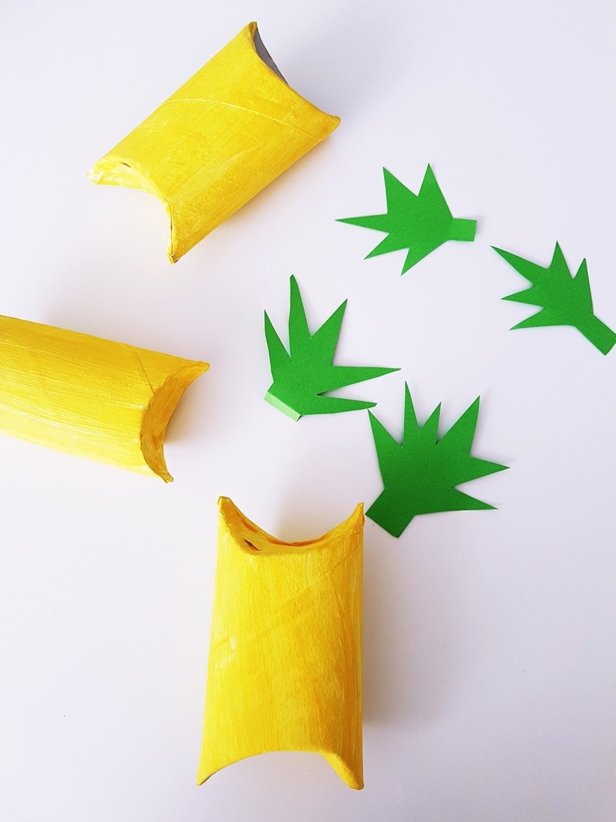 Ananas Frucht Geschenkverpackung basteln