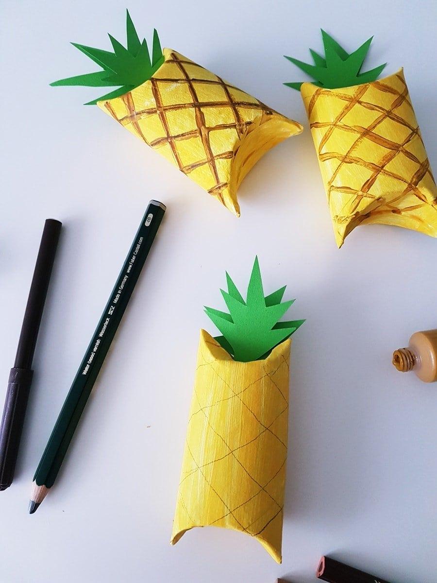 Ananas Geschenkverpackung basteln