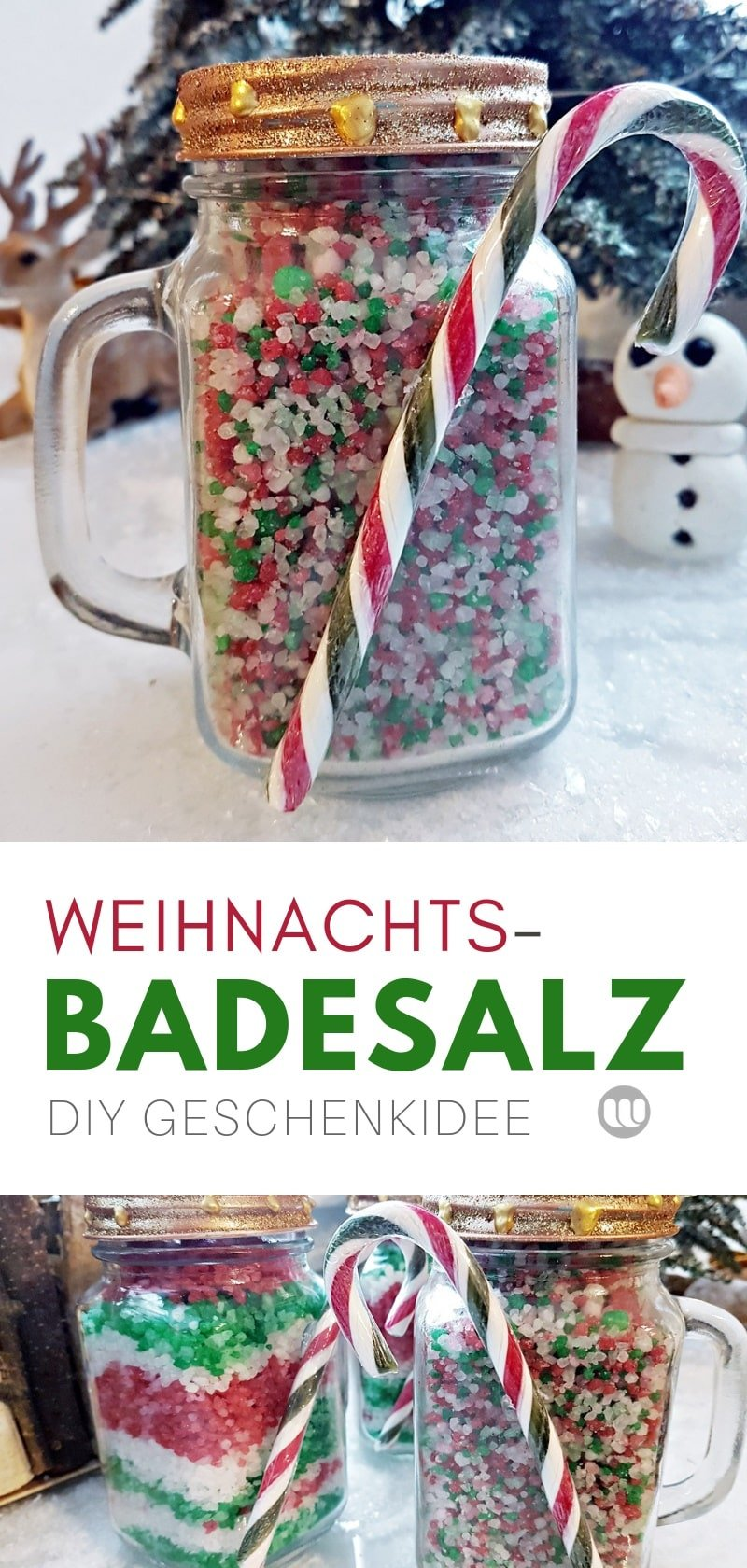 Rezept für Badesalz: Wie man Weihnachts- Badesalz selbst herstellt
