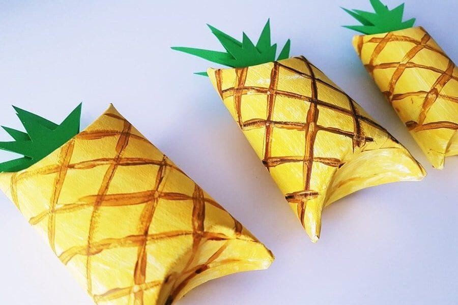 Bastelanleitung Ananas Verpackung Ananas