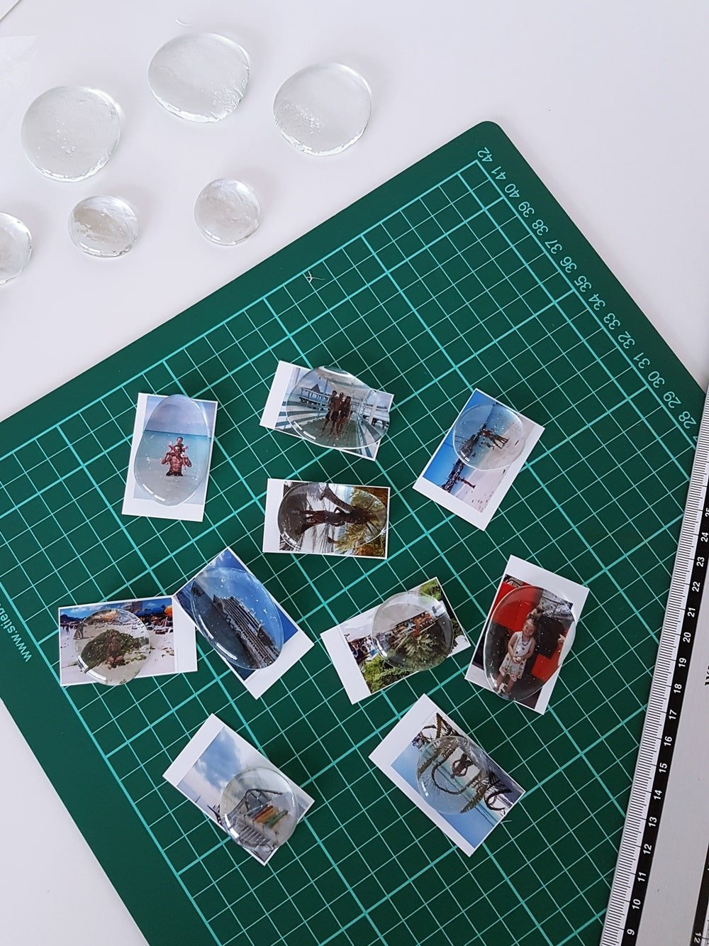 Geschenkidee: Fotomagnete selber machen