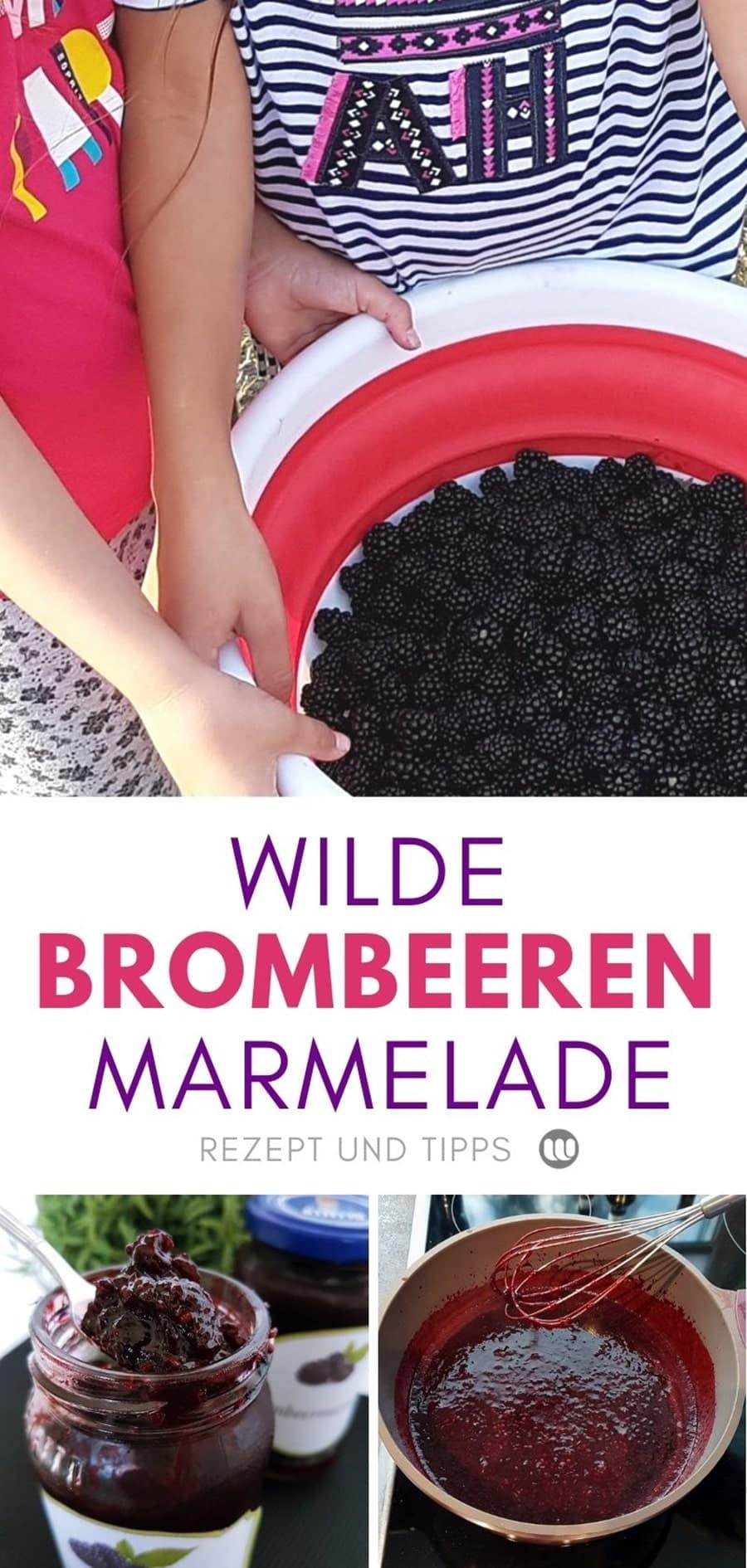 Die Brombeeren sind reif! Tipps zum Pflücken und ein köstliches Brombeermarmelade Rezept mit Zitrone Vanille aus wilden Brombeeren zum selber machen.