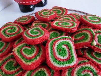 Bunte Swirl Cookies Rezept Weihnachten
