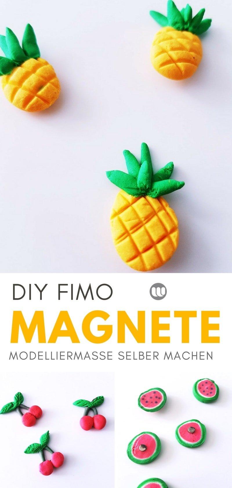 Bastelanleitung: Fruchtige Magnete basteln mit Kaltporzellan oder Fimo