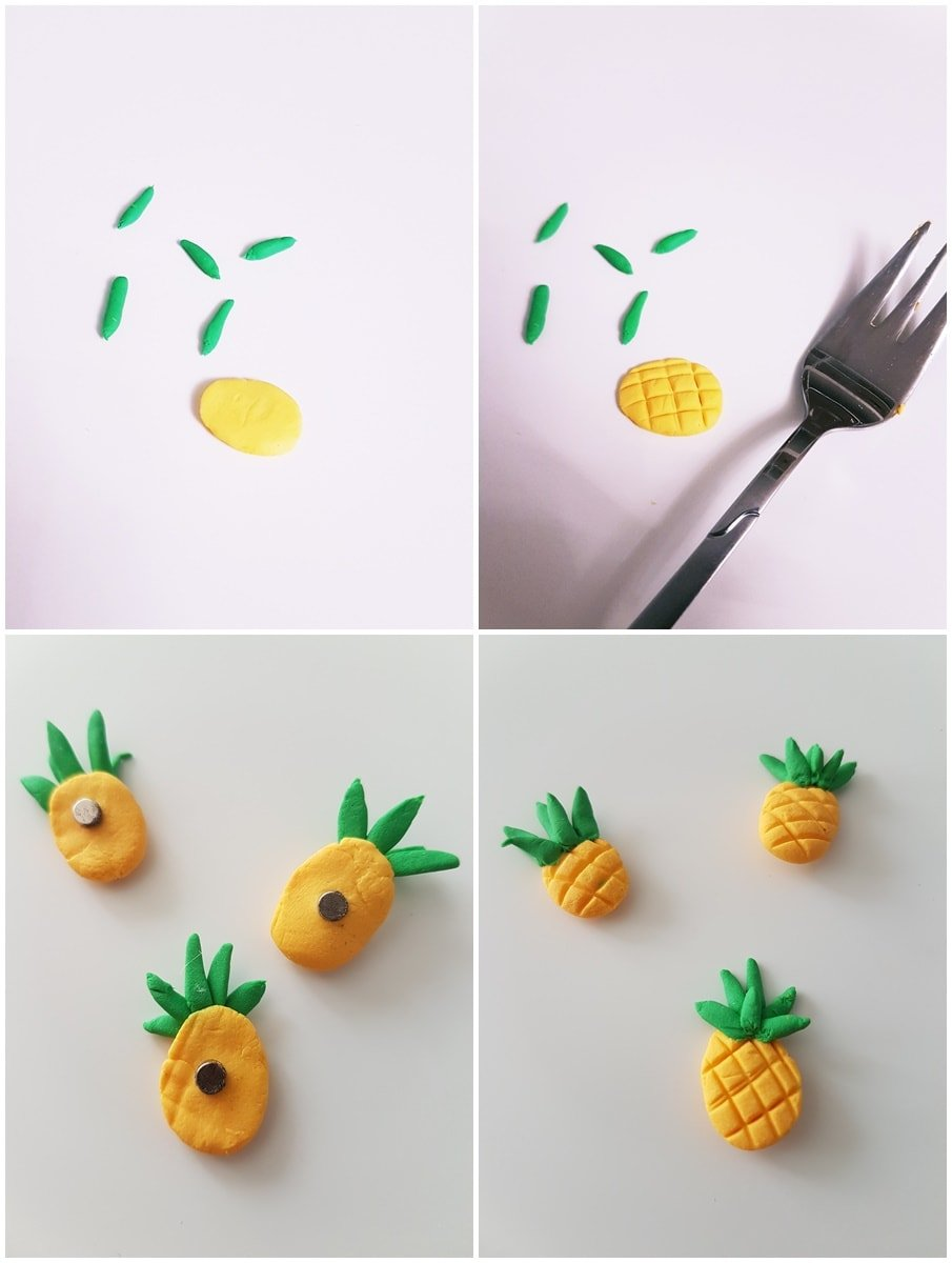 DIY Ananas Magneten selber machen