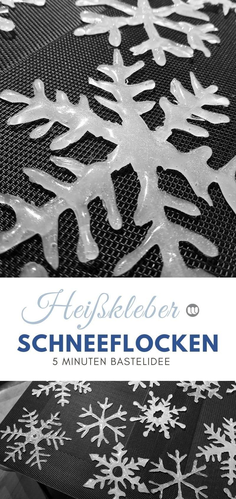 Heißkleber Bastelidee: Schneeflocken & Deko Eiskristalle basteln im Winter