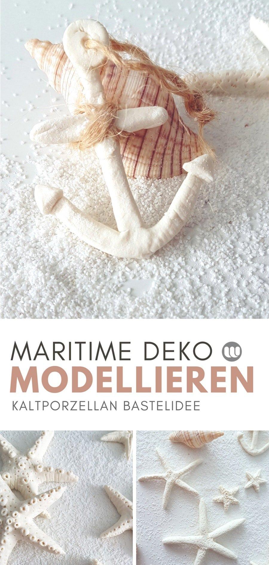 Seesterne & Anker aus Fimo, Salzteig oder Kaltporzellan basteln: Maritime Deko