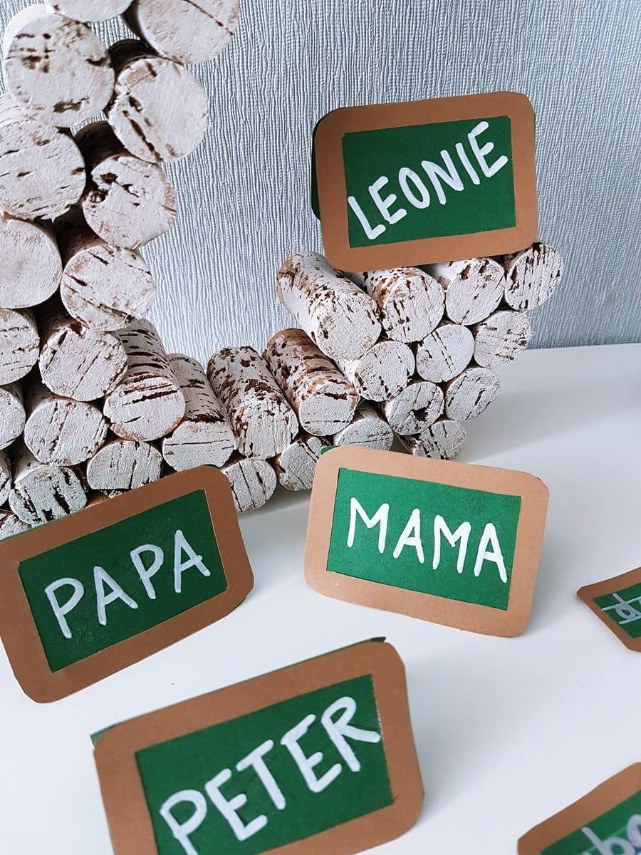 Einschulung Tischkarten Namensschilder