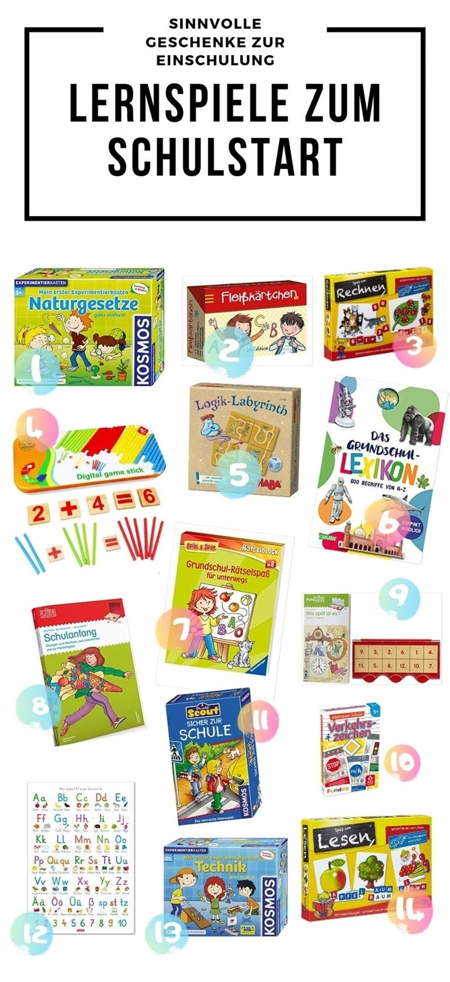 Geschenke zur Einschulung? Entdecke sinnvolle Geschenkidee zur Einschulung und Kleinigkeiten zum Schultüte füllen