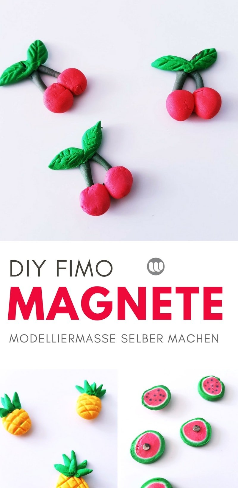 diy k hlschrankmagnete fruchtige magnete aus modelliermasse. Black Bedroom Furniture Sets. Home Design Ideas