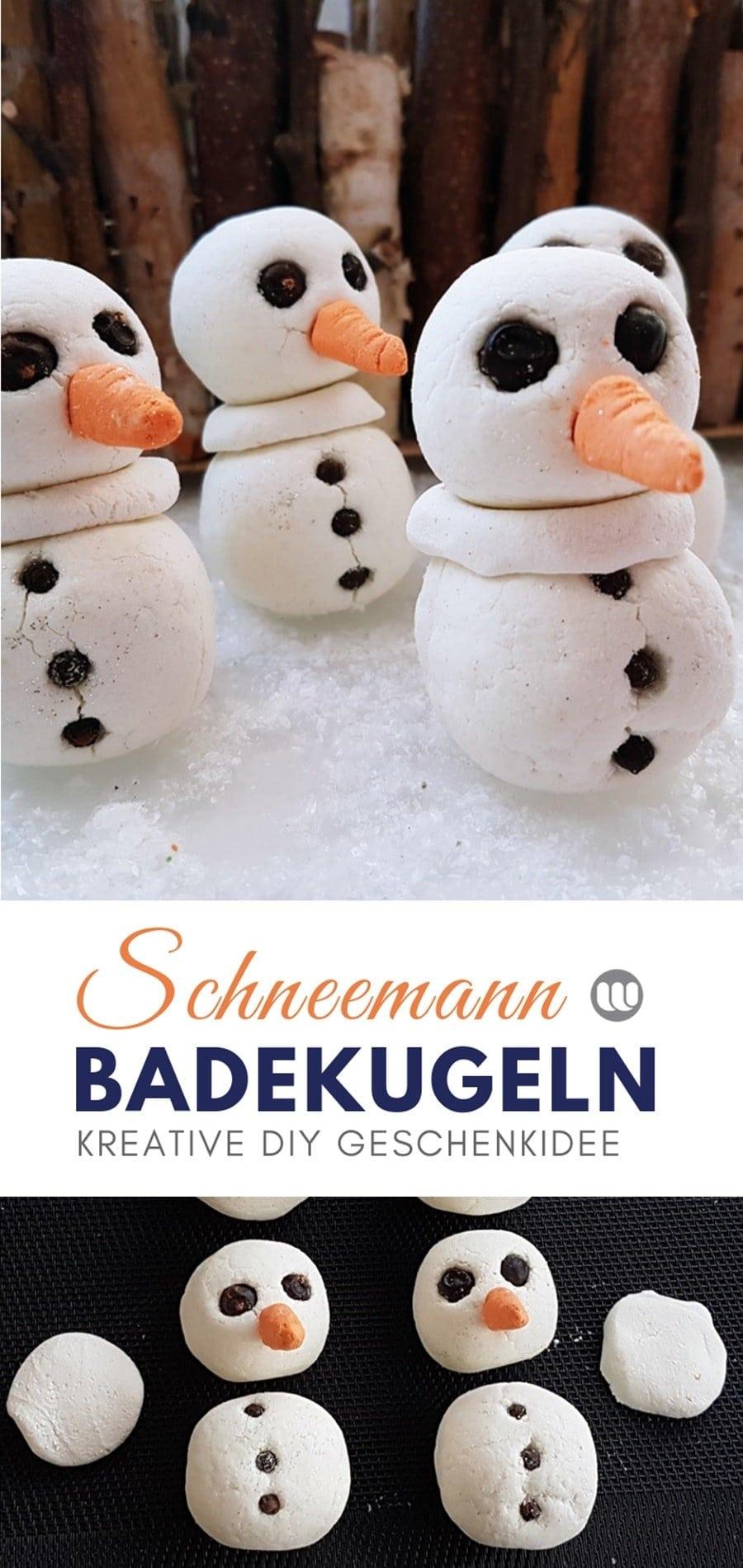 Schneemann Badekugel wie von Lush ganz einfach selber machen. Snowman Badebombe Rezept & Anleitung.
