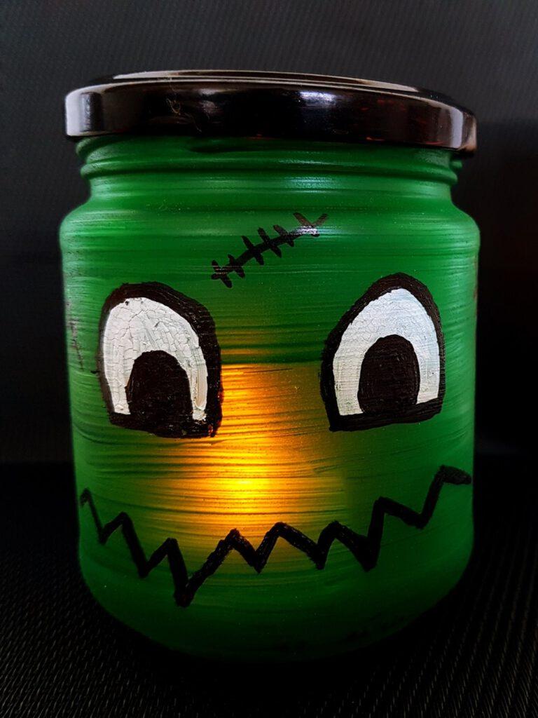 Halloween Deko basteln Windlicht