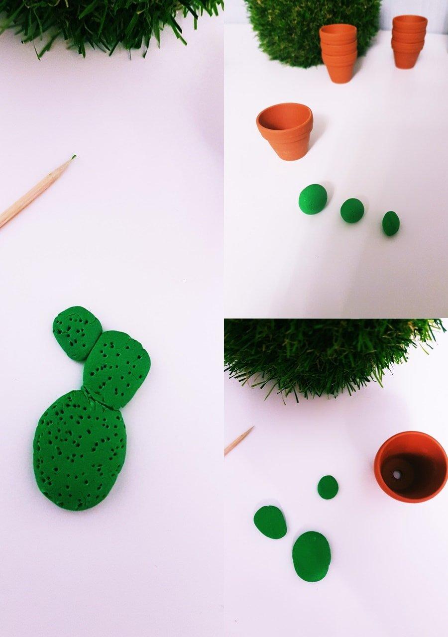 Kaktus Deko aus Modelliermasse / Fimo / DIY Kaltporzellan
